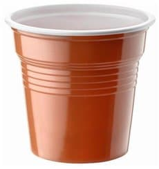 Gobelet Plastique PS Bicolore Marron 80ml Ø5,7cm (50 Utés)