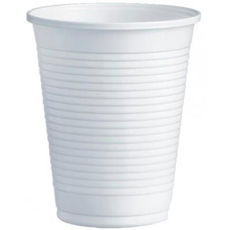 Gobelet Plastique PS Blanc 200ml Ø7,0cm (100 Unités)