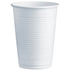 Gobelet Plastique PS Blanc 230ml Ø7,0cm (3000 Unités)