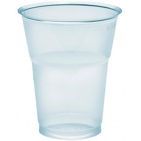"""Gobelet Plastique """"Diamant""""  PS cristal 300ml Ø8,2cm (50 Utés)"""