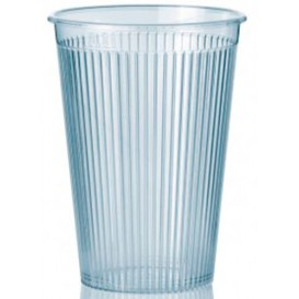 "Gobelet ""Ribbed"" PS 200ml Dur Transparent (1.000 Unités)"