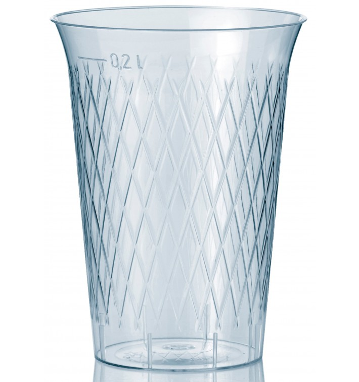 Verre Plastique Dur Diamant Transparent 200ml ( 1.000 Utés)