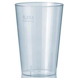 Verre Plastique Dur 250ml Transparent (50 Unités)