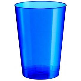 Verre Plastique Moon Bleu Pearl PS 230ml (500 Unités)