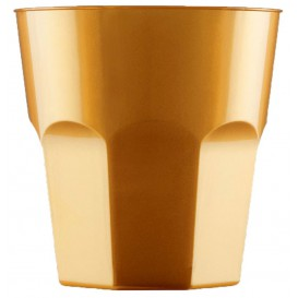 Verre Plastique à Cocktail Or PS Ø73mm 220ml (1000 Utés)