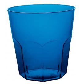 Verre Plastique Cocktail Bleu Transp. PS Ø73mm 220ml (500 Utés)