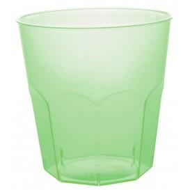 Verre Plastique Vert Citron Transp. PS Ø73mm 220ml (50 Utés)