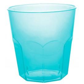 Verre Plastique Turquoise Transp. PS Ø73mm 220ml (1000 Utés)