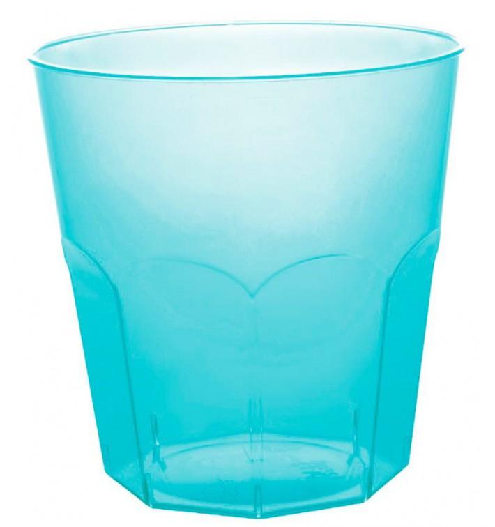 Verre Plastique Turquoise Transp. PS Ø73mm 220ml (50 Utés)