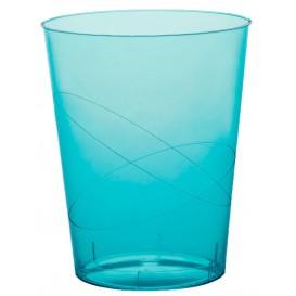 Verre Plastique Moon Turquoise Transp. PS 350ml (20 Unités)