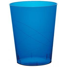 Verre Plastique Bleu Transp PS 350ml (50 Unités)