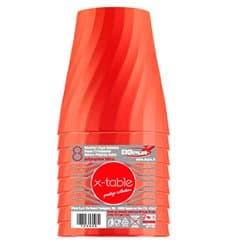 "Gobelet Plastique PP ""X-Table"" Orange 320ml (8 Utés)"