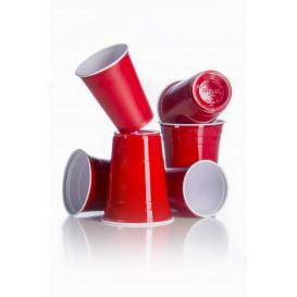 Gobelet Plastique Rouge Americain 16 Oz/470ml (50 Utés)