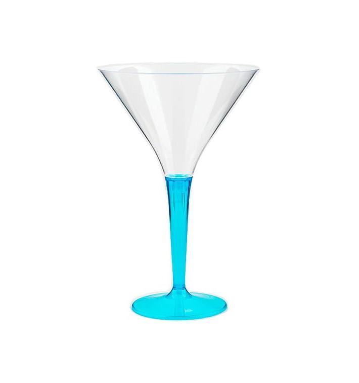 Verre à Cocktail Plastique Turquoise 100ml (6 Unités)