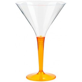 Verre à Cocktail Plastique Orange 100ml (6 Unités)