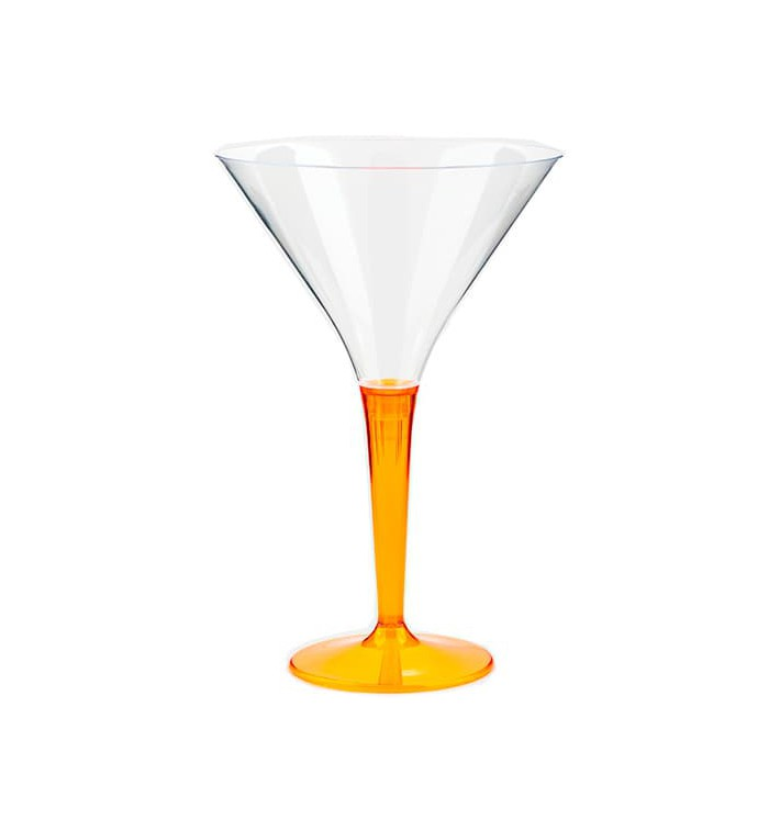 Verre à Cocktail Plastique Orange 100ml (6 Unités)