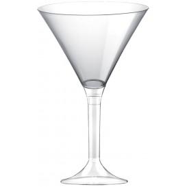Flûte Plastique Cocktail Pied Transparent 185ml (20 Utés)