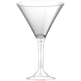 Flûte Plastique Cocktail Pied Transparent 185ml 2P (200 Utés)