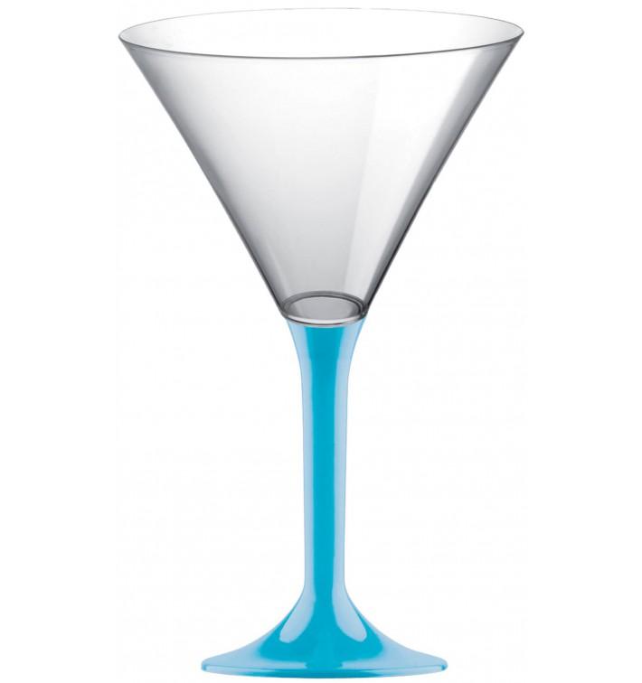 Flûte Plastique Cocktail Pied Turquoise 185ml 2P (20 Utés)