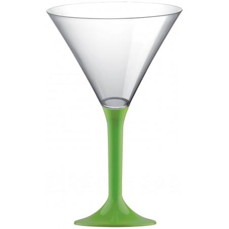 Flûte  Plastique Cocktail Pied Vert citron 185ml (200 Utés)