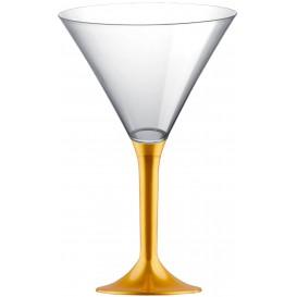 Flûte Plastique Cocktail Pied Or 185ml 2P (200 Utés)