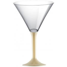 Flûte Plastique Cocktail Pied Crème 185ml 2P (20 Utés)