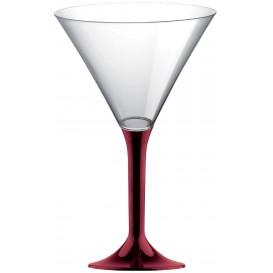 Flûte Plastique Cocktail Pied Bordeaux 185ml 2P (20 Utés)