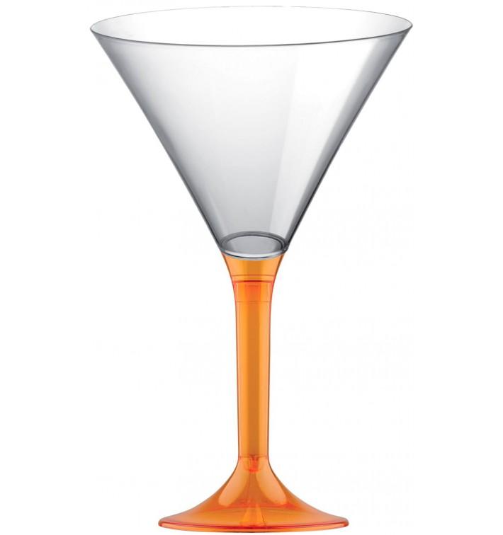 Flûte Plastique Pied Orange Transp. 185ml 2P (200 Utés)