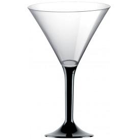 Flûte Plastique Cocktail Pied Noir 185ml 2P (200 Utés)