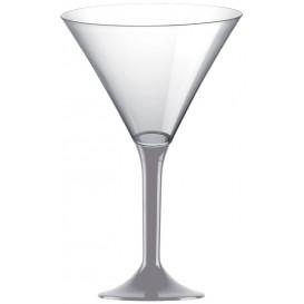 Flûte Plastique Cocktail Pied Gris 185ml 2P (20 Utés)