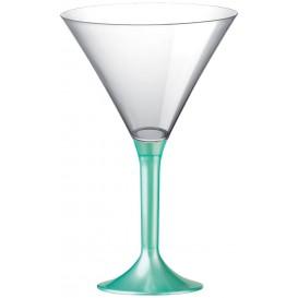 Flûte Plastique Cocktail Pied Tiffany Perlé 185ml 2P (20 Utés)