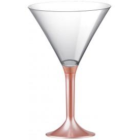 Flûte Plastique Cocktail Pied Pêche Perlé 185ml 2P (200 Utés)