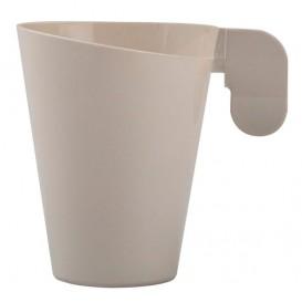 Tasse Plastique Design Creme 155ml (12 Unités)