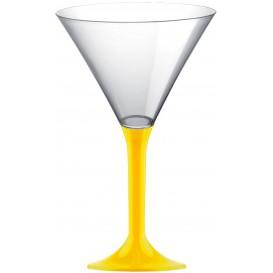 Flûte Cocktail Plastique Jaune 185ml (20 Unités)