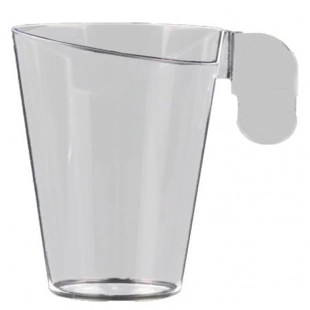 Tasse Plastique Design Transparent 155ml (12 Unités)