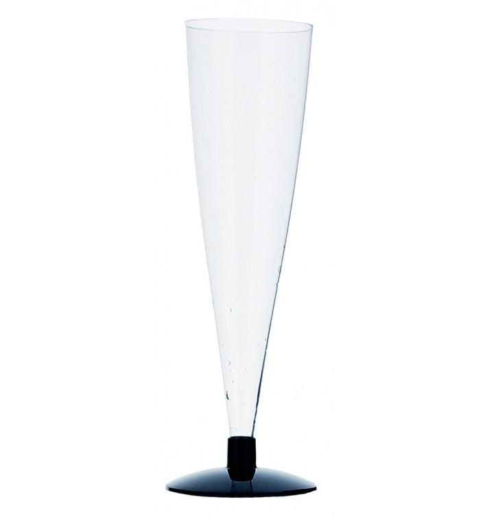 Flûte Jetable à Champagne Pied Noir 150ml 2P (432 Unités)