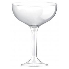 Flûte Champagne Plastique Pied Trans. 200ml 2P (20 Utés)