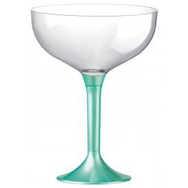 Flûte Champagne Plastique Pied Tiffany Perlé 200ml 2P (20 Utés)