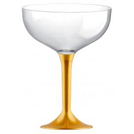 Flûte Champagne Plastique Or 120ml (20 Unités)