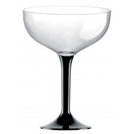 Flûte Champagne Plastique Noir120ml (20 Unités)