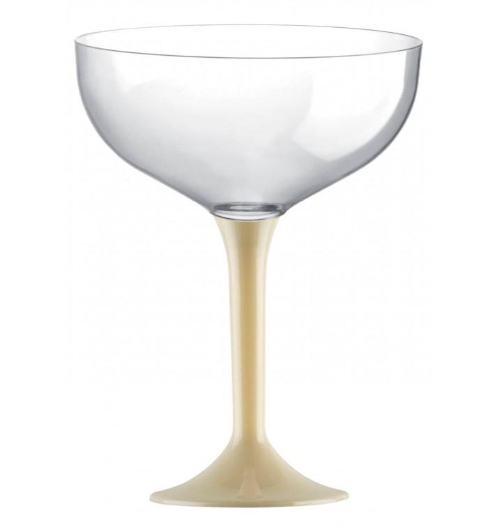 Flûte Champagne Plastique Pied Creme 200ml 2P (200 Utés)