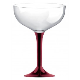 Flûte Champagne Plastique Bordeaux 120ml (20 Unités)