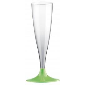 Flûte Champagne Plastique Vert Lime 140ml (20 Unités)