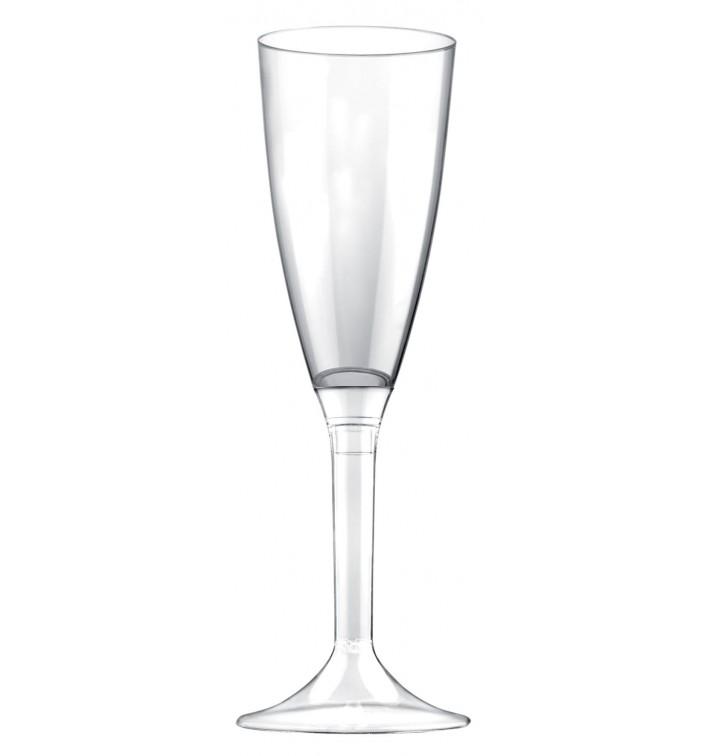 Flûte Champagne Plastique Pied Trans. 120ml 2P (200 Utés)