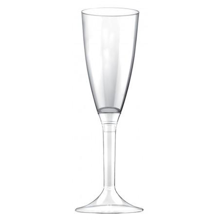 Flûte Champagne Plastique Pied Transparent 120ml (200 Utés)