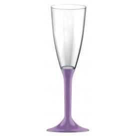 Flûte Champagne Plastique Pied Lilas 120ml 2P (20 Utés)