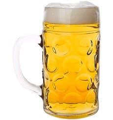 Pichet Réutilisable SAN pour Bière  Ø77mm 500ml (6 Utés)