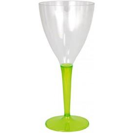 Verre à Vin Plastique Vert 130ml (6 Utés)