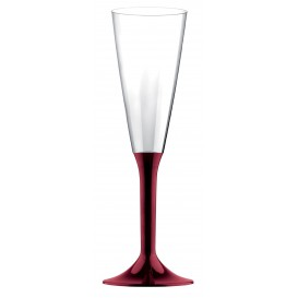 Flûte Champagne Plastique Bordeaux 160ml (20 Unités)