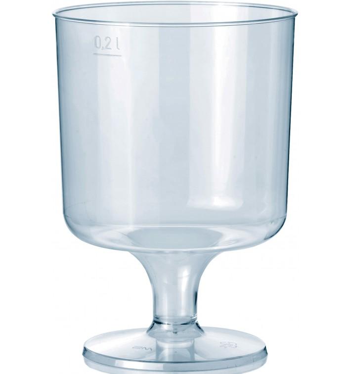 Verre à Pied en Plastique 200ml 1P (10 Utés)